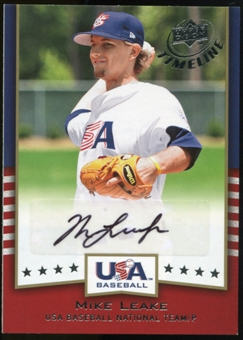 2008 Upper Deck Timeline Team USA Signatures #ML Mike Leake Autograph
