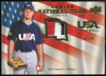2008 Upper Deck USA Junior National Team Patch #TS Tyler Stovall /99