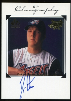 1998 Upper Deck SP Authentic Chirography #DE Darin Erstad Autograph