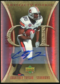 2007 Upper Deck Artifacts Rookie Autographs #111 Courtney Taylor Autograph /30