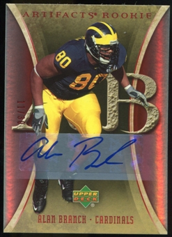 2007 Upper Deck Artifacts Rookie Autographs #153 Alan Branch Autograph /30