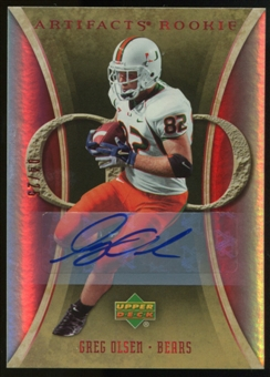 2007 Upper Deck Artifacts Rookie Autographs #173 Greg Olsen RC Autograph /25