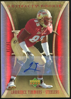 2007 Upper Deck Artifacts Rookie Autographs #184 Leon Hall Autograph /25