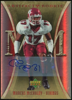 2007 Upper Deck Artifacts Rookie Autographs #186 Marcus McCauley Autograph /30