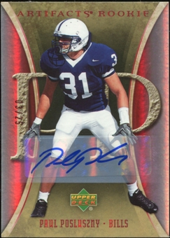 2007 Upper Deck Artifacts Rookie Autographs #190 Paul Posluszny Autograph 3/25