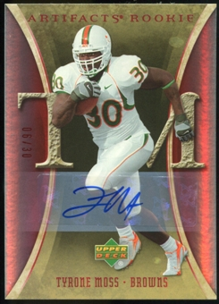 2007 Upper Deck Artifacts Rookie Autographs #199 Tyrone Moss Autograph /30