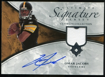 2006 Upper Deck Ultimate Collection Game Jersey Autographs #ULTOJ Omar Jacobs Autograph /35