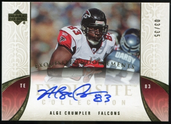 2006 Upper Deck Exquisite Collection Endorsements #EEAC Alge Crumpler Autograph /35