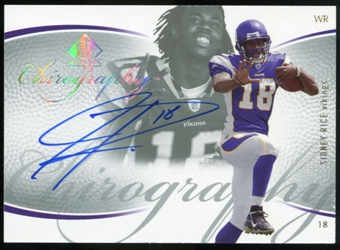 2007 Upper Deck SP Authentic Chirography #CASR Sidney Rice Autograph