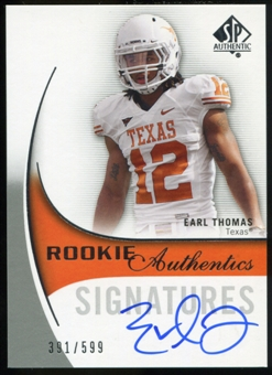 2010 Upper Deck SP Authentic #139 Earl Thomas RC Autograph /599