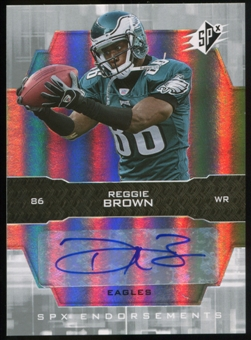 2007 Upper Deck SPx Endorsements Autographs #ENBR Reggie Brown Autograph