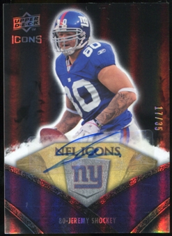 2008 Upper Deck Icons NFL Icons Autographs #NFL27 Jeremy Shockey Autograph /35