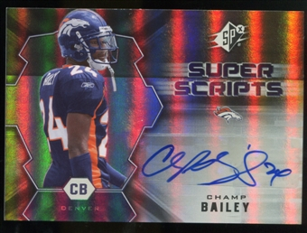 2007 Upper Deck SPx Super Scripts Autographs #SSCB Champ Bailey Autograph