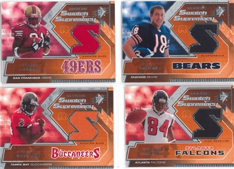 2005 Upper Deck SPX Football Rookie Swatch Supreme Jersey Lot (44 cards)