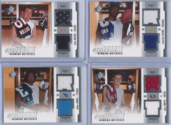 2005 Upper Deck SPX Football Rookie Winning Materials Jersey Lot (6 cards)