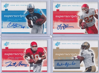 2005 Upper Deck SPX Football Super Scripts Autographs Lot (8 cards)