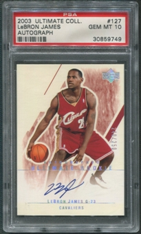2003/04 Ultimate Collection #127 LeBron James Rookie Auto #240/250 PSA 10