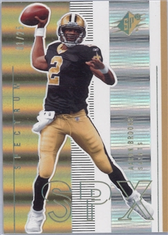 2005 Upper Deck SPX Football Spectrum #57 Aaron Brooks #1/25