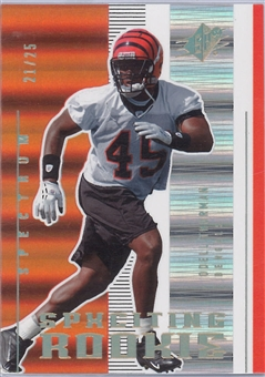 2005 Upper Deck SPX Football SPXciting Rookie Spectrum #195 Odell Thurman #21/25