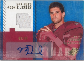 2006 Upper Deck SPX Football #186 Matt Leinart Auto Rookie Jersey #9/99