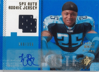 2006 Upper Deck SPX Football #188 LeDale White Auto Rookie Jersey #/350
