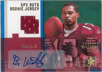2006 Upper Deck SPX Football #194 Brandon Williams Auto Rookie Jersey #/350