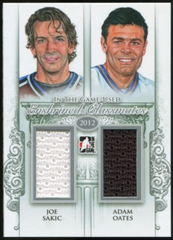 2013-14 In the Game ITG Used Enshrined Classmates Jerseys Silver #EC01 Joe Sakic/Adam Oates /50