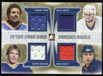 2013-14 In the Game ITG Used Forever Rivals Quad Jerseys Silver #FR02 Grant Fuhr/Mark Messier/Billy Smith/Mike