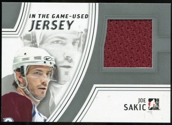 2013-14 In the Game ITG Used Jerseys Silver #GUJ18 Joe Sakic /50