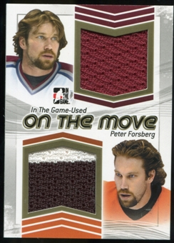 2013-14 In the Game ITG Used On the Move Jerseys Gold #OTM24 Peter Forsberg /10
