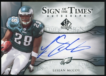 2009 Upper Deck SP Authentic Sign of the Times #STLS LeSean McCoy Autograph