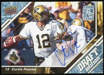 2009 Upper Deck Draft Edition Autographs Blue #1 Curtis Painter Autograph /25