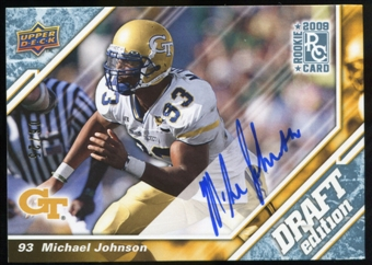2009 Upper Deck Draft Edition Autographs Blue #5 Michael Johnson Autograph /25