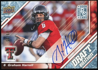 2009 Upper Deck Draft Edition Autographs Blue #18 Graham Harrell Autograph /25