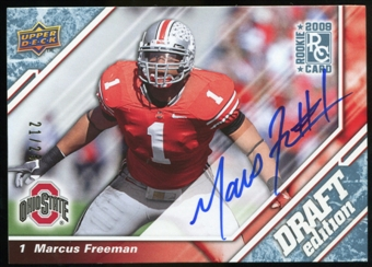 2009 Upper Deck Draft Edition Autographs Blue #63 Marcus Freeman Autograph /25
