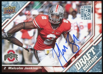 2009 Upper Deck Draft Edition Autographs Blue #71 Malcolm Jenkins Autograph /25