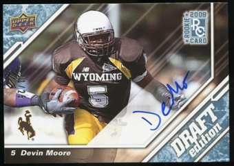 2009 Upper Deck Draft Edition Autographs Blue #79 Devin Moore Autograph /25