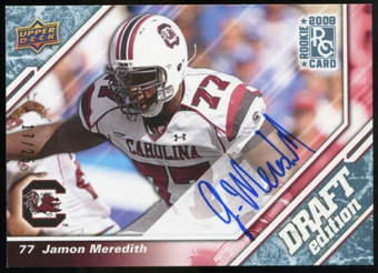 2009 Upper Deck Draft Edition Autographs Blue #110 Jamon Meredith Autograph /25