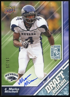 2009 Upper Deck Draft Edition Autographs Blue #114 Marko Mitchell Autograph /25