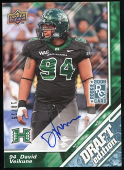 2009 Upper Deck Draft Edition Autographs Blue #121 David Veikune Autograph /25