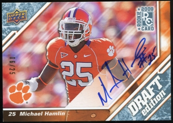 2009 Upper Deck Draft Edition Autographs Blue #129 Michael Hamlin Autograph /25