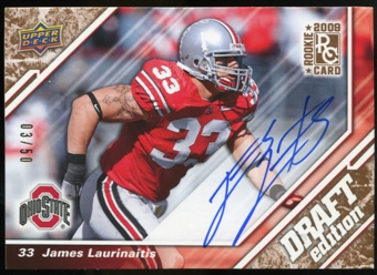 2009 Upper Deck Draft Edition Autographs Copper #10 James Laurinaitis Autograph /50