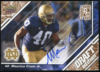 2009 Upper Deck Draft Edition Autographs Copper #64 Maurice Crum Autograph /50