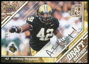2009 Upper Deck Draft Edition Autographs Copper #65 Anthony Heygood Autograph /50