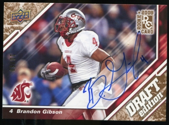 2009 Upper Deck Draft Edition Autographs Copper #88 Brandon Gibson Autograph /50