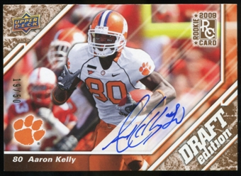 2009 Upper Deck Draft Edition Autographs Copper #89 Aaron Kelly Autograph /50