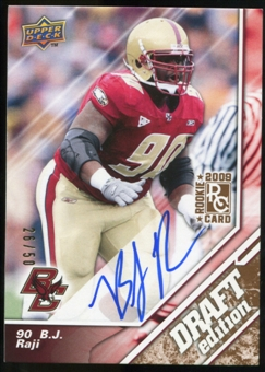 2009 Upper Deck Draft Edition Autographs Copper #93 B.J. Raji Autograph /50
