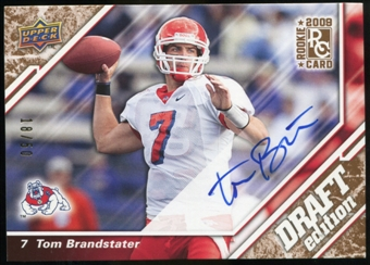 2009 Upper Deck Draft Edition Autographs Copper #94 Tom Brandstater Autograph /50