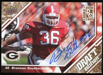 2009 Upper Deck Draft Edition Autographs Copper #96 Brannan Southerland Autograph /50