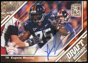 2009 Upper Deck Draft Edition Autographs Copper #107 Eugene Monroe Autograph /50
